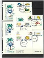 Christmas Islands 1968-70 Fish Set/12 Stamps 5 Addressed First Day Covers 13-16