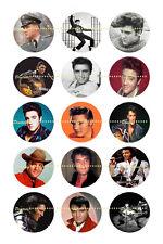 "ELVIS BOTTLE CAP IMAGES 50 1"" CIRCLES   *****FREE SHIPPING*****"