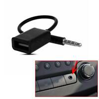 3.5mm Male AUX Audio Plug Jack to USB 2.0 Female Converter Cable Cord Universal