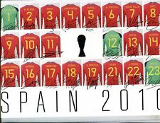 Spain 2010 8 x10 Soccer Team Jersey Photo w/Facsimile Sigs 060217jh