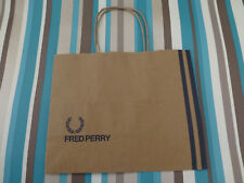 Soft paper gift bag very small Fred Perry shoppers brown carrier bags NO tag