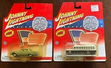 Lot of 2 Johnny Lightning American Heroes '61 Ford Galaxie-ATF & '56 Chevy Bus