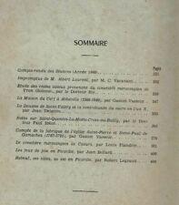 SOCIETE D'EMULATION HISTORIQUE ET LITTERAIRE D'ABBEVILLE ANNEE 1960