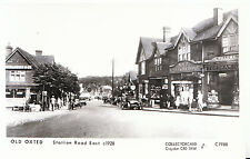 Surrey Postcard - Old Oxted - Station Road East c1928   Q225
