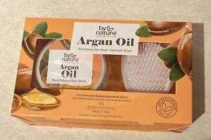by nature 🌱 Argan Oil Nourishing Hair Mask + Detangler Brush