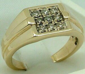 9K Yellow Gold 0.45ct Diamond Men's Engagement / Wedding Ring 9ct 375 rrp$980.00