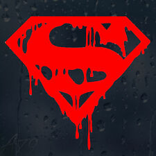 Super Man Bloody Logo Red Car Decal Vinyl Sticker