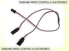 Futaba RC 300mm Servo Y Lead Splitter Radio Control Model Plane JR Spektrum NEW