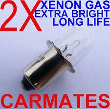 2 Flashlight Torch Bulb 19.2V for Bosch Panasonic Hitachi Ryobi  XENON Gas