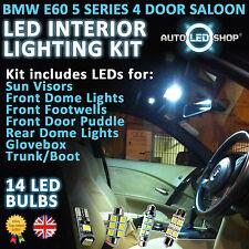 BMW SERIE 5 BIANCO LED luce interno Serie E60 2003 - 2009 520 525 530 D 530 LCI