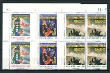 1988 - LOTTO/13314QN - SAN MARINO - FEDERICO FELLINI 3v. - QUARTINE NUOVI