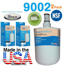 2 Whirlpool 9002 Fridge Water Filter Cartridges w4b Compatible Made in USA NSF