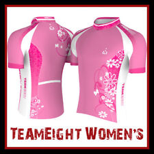 TeamEight Cycling Jersey Womens Woman Size Xs S M L
