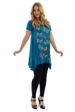 Butterfly Hip Length Plus Size Tops & Shirts for Women