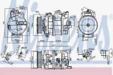 Compressore, Aria Condizionata per Aria Condizionata Nissens 890632