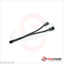 Shakmods 3 pin splitter Y 20cm Nero a Maniche Corte Prolunga per Cavo UK FIRST CLASS