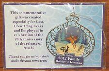 Disney 2012 Family Holiday Celebration 70th Anniversary Bambi Christmas Ornament