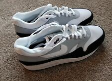 NIKE AIR MAX 1 TRAINERS - WHITE/GREY/BLACK - NEW WITHOUT BOX - UK11