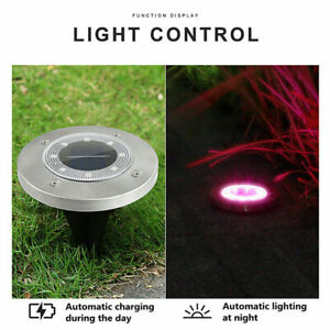1pcs LED Solar Ground Light Yard Garden Pathway Outdoor Color Changing Disk Lamp