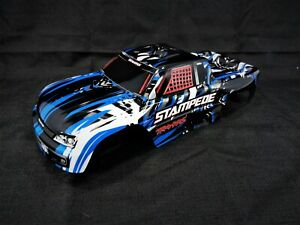 New Traxxas Stampede XL-5 Blue Black White Painted Body Shell VXL