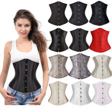 Women Steel Boned Waist Trainer Underbust Corset Shaperwear Top Shaper Plus Size