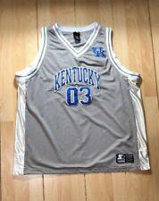 Vintage KENTUCKY WILDCATS STARTER Jersey Sewn Basketball NCAA XL EXTRA LARGE