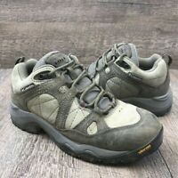 Columbia Womens Ravenice Hiking Trail Walking Shoes Sage Black Cherry Leather  7