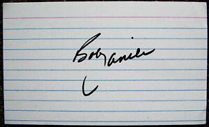 Signed BOB LANIER Index Autograph Detroit Pistons / Golden State Warriors 3x5