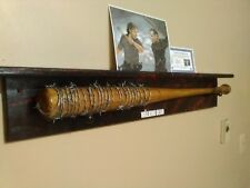 THE WALKING DEAD NEGAN'S LUCILLE BARBWIRE BAT PROP  blood spatter w/ Ricks axe