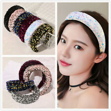 Women's Sequin Padded Headband Hairband Wide Hair Band Hoop Hair Accessories