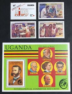 Uganda - 1988 - 125th Anniversary of the International Red Cross Unmounted Mint.