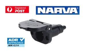NARVA  CAR SOCKET 7 PIN SMALL ROUND PLASTIC 82022BL
