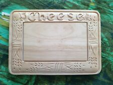 CARVED WOODEN CHEESE BOARD  VGC COUNTRY STYLE medium size.food bread board