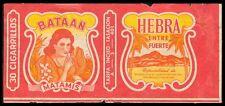 Philippines BATAAN MATAMIS Cigarette Label