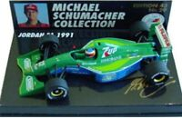 MINICHAMPS 510 914332 JORDAN F1 model car 1st GP race M Schumacher 1991 1:43rd