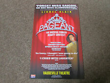 Lionel BLAIR in PAGEANT Beauty Contest Musical Comedy VAUDEVILLE Theatre Poster