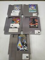 Lot Of 5 NES Original Cartridges Top Gun Airwolf Amagon Vegas (Dd) (a235)