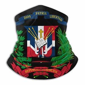 Dominican Republic Flag Neck Warmer Gaiter Balaclava Ski Mask Cold Weather Face