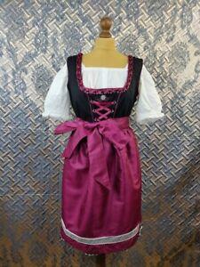 Waldschutz Waldschütz Dirndl Dress With White Top Octoberfest Size L 44/46