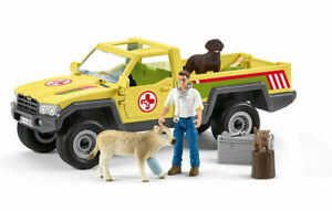 Schleich 42503 Veterinary visit at the FARM WORLD vet farming toy 4x4 vehicle