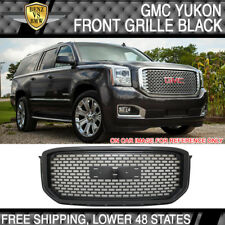Fit 15 16 GMC Yukon XL Mesh Denali Style Front Grille Grill Hood ABS Plastic