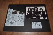 QUEEN Freddie Mercury (+) signed Autogramm 25x35 cm Passepartout InPerson SELTEN