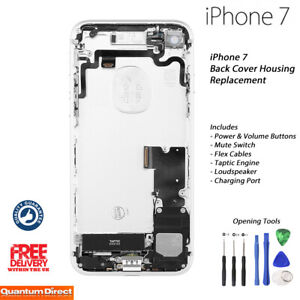 NEW iPhone 7 Complete Fully Assembled Back Cover Housing w/ALL Parts - SILVER