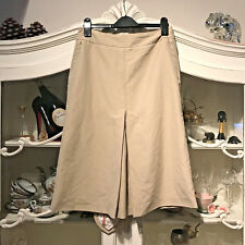 MEXX SUMMER SKIRT A LINE BEIGE COLOR FULLY LINED KNEE LENGTH UK 12 EUR 38