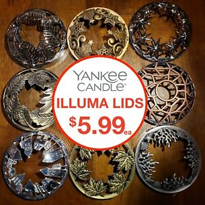 YANKEE CANDLE ILLUMA LIDS • USED IN GOOD CONDITION • 20 STYLES