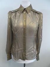 Karen Millen Metallic Bronze Draped Blouse Size 14 UK rrp £110 Box32 01 F