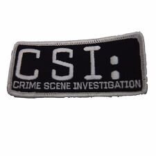 Crime Scene Investigation CSI Logo Embroidered Patch