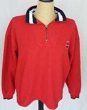 Disney World Women's Yacht Club 1/4 Zip Fleece Red Size Medium Long Sleeve
