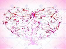 PAINTING ILLUSTRATION ABSTRACT SWIRLY FLORAL LOVE HEART ART PRINT POSTER MP3035B