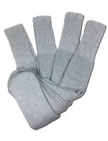 4 Pairs Mens Grey Tube Socks Big and Tall Extra Long Thick Cotton - 28 Inches